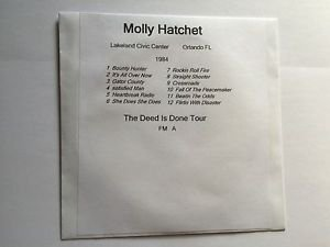 Molly Hatchet CD Orlando 1984 The Deed Is Done