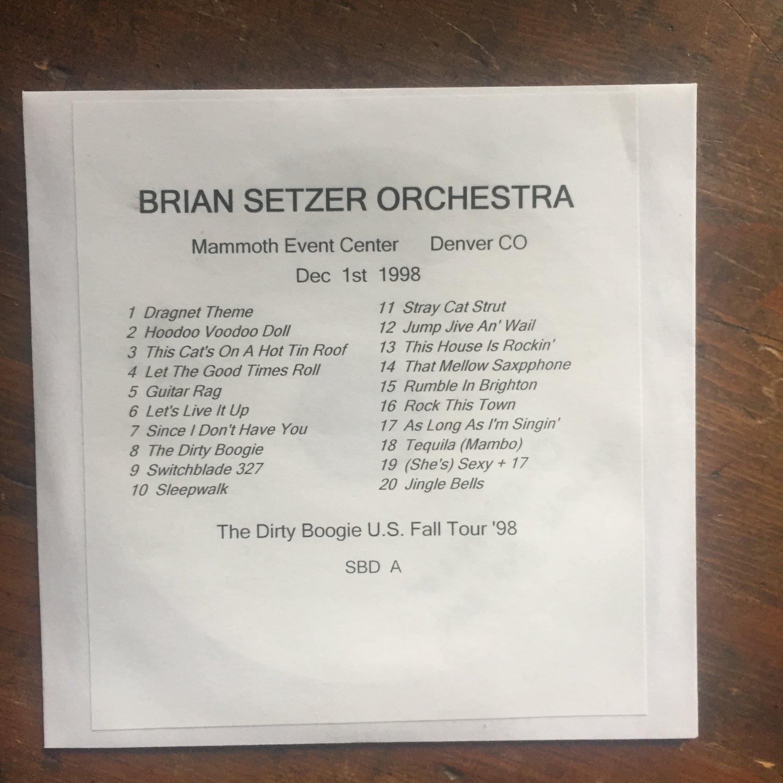Brian Setzer Orchestra cd Denver CO 1998