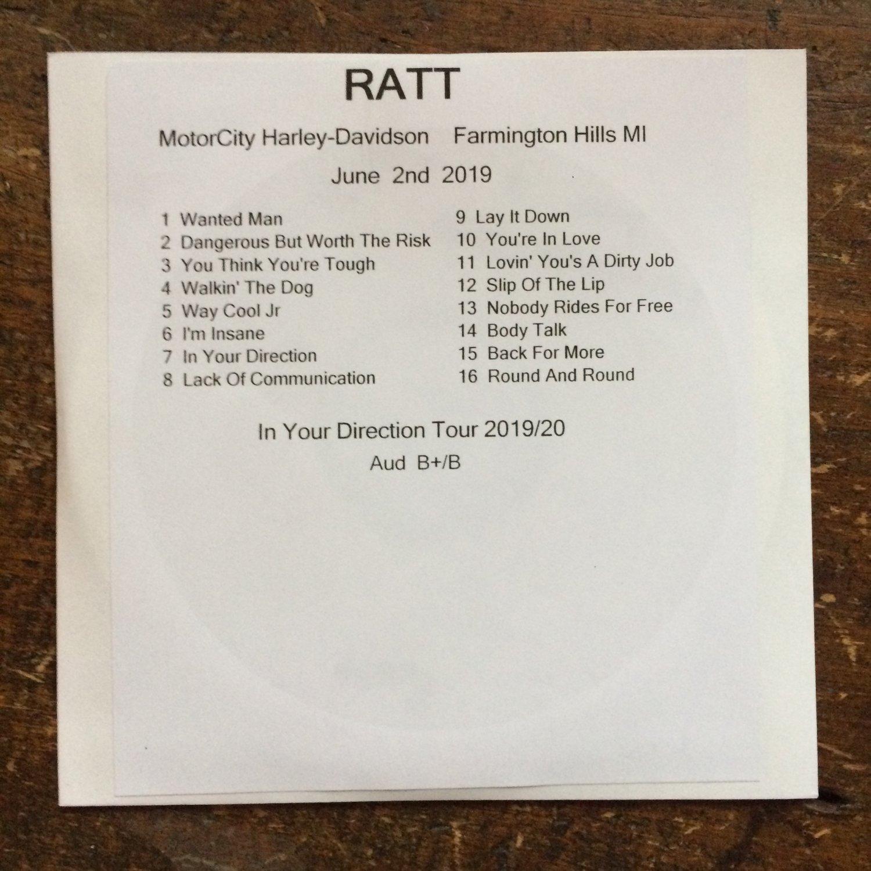 Ratt cd Farmington Hills MI 2019 In Your Direction tour