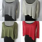 Nwt DEREK HEART 2 pc Crop Cami Top women SM Green Ivory Black T shirt top