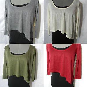 Nwt DEREK HEART 2 pc Crop Cami Top women SM Green Ivory Black T shirt top