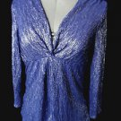 Nwt NYC Metallic Knot Blouse top womens PXS-PXL Blue Black Red Beige stretch fit