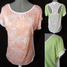 Nwt IN STYLE Open shoulder top women Plus XL2XL3XL Peach Green beach coverup tee