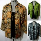 Nwt NOTATIONS 2-fer Twinset Top womens S Leaf Floral Brown Green Blue Beige
