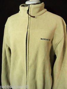 WINCHESTER Fleece Jacket men M Khaki Beige Sport Fishing Outdoor gear Sweatshirt