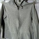 OLD NAVY Hoodie girl/juniors S Gray Heathered Full zip up Sweatshirt Long sleeve
