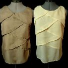 Nwt TWILIGHT Chiffon Tiered Tulip top womens S XL Mocha Brown, Peach Fancy Tank