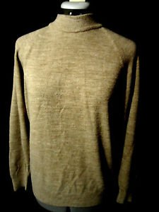 DESIGNER ORIGINALS Mock neck Sweater top womens ML Brown ribbed knit Long sleeve
