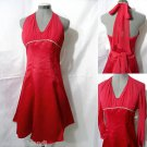 Nwt CINDERELLA Ball Gown Formal Dress womens XS Red Rhinestones Rockabilly dance