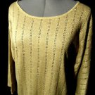 Nwt ELEMENTZ Crochet Eyelet Sweater top women SLXL Black Beige scoop dolman Boho