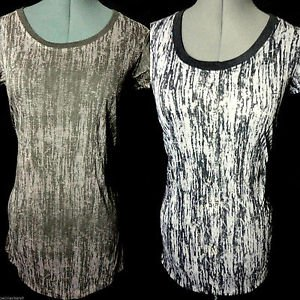 New VINTAGE DYED Burn Out Tee shirts womens SM Brown+Pink Gray+Black Beach Tunic