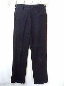 "LANDS' END Corduroy Pants womens 8 Dark Blue ""fit 3"" type Trouser Dress Slacks"