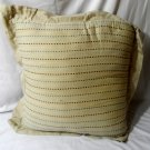 "Decorative Bed Throw Neck Pillow 17"" Beige Brown Blue Embroidered Cushioned Soft"