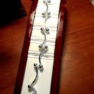"BARBELL Fashion Bracelet womens 7"" SILVERTone Grapeseed Toggle closure Modern"