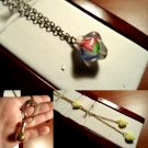 VINTAGE Jewelry Necklaces and Pendants 1970's Hearts Lariat, Horseshoe, Cats eye