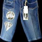 "Nwt REWASH Jean Shorts sz 7 Dark wash 32"" W Urban Metro Embroidered pocket Urban"