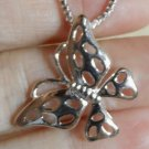 "New BUTTERFLY Charm Pendant & 16"" Necklace 925 Silver Box link Mothers Day Gift"