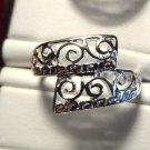 New FILIGREE WRAP Ring 925 SP 6.5 7 8 8.5 9 TRIBAL SWIRL Jewelry Birthday Gift