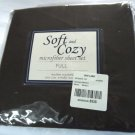 SOFT & COZY Full Sheet Set Brown Microfiber EASY CARE 023878898326 BALTIC LINEN