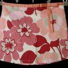 KANDY KISS Flirty Mini Skirt 3 Pink Red Floral Bow Fall retro GOGO Girl 70's Hot