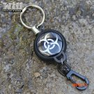 EDC Outdoor  Steel Rope Burglar Keychain Stalker Soft Shell Tactical Retractable Key Chain