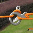 EDC gear multifunction outdoor equipment  tool stainless steel Carabiner button camp Fast