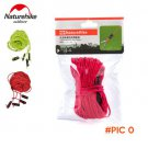 4 Metres 4 Pieces Naturehike Reflective Tent Windproof Fluorescent Guy Ropes Adjustable Te