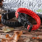 Outdoor Camping Men Paracord Bracelet Rescue Parachute Cord Wristband Emergency Rope Flint