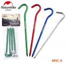 8pcs/Lot  18cm 700I Aluminium Alloy Tent Peg Nail Stake with Rope Camping Equipment Outdoo