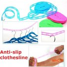 5m Windproof Adjustable Nylon Outdoor Anti Slip Drying Dresses Clothes Hanger Clothesline