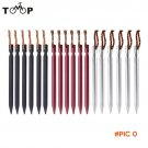High Quality 6pcs 18cm 700I Aluminium Alloy Tent Peg Nail Stake with Rope Camping Equipmen