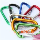 5pcs Aluminum Hiking Spring Carabiner Snap Hook Hanger Keychain Buckle Rope Buckle Hiking