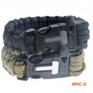 Outdoor Camping Survival Gear Buckle Travel Kit Equipment,Paracord Rescue Rope Escape Brac