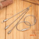 """5pcs/lot 11cm/4.33"""" Stainless Steel Multifunctional Outdoor Camping Locking Wire Rope"""