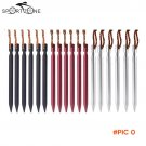 3 Colors Outdoor Camping Tent Peg with Rope Aluminium Alloy Travel Kits Beach Tent Pegs Na