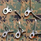 3pcs 3 Hole Survival Buckle CNC Stainless Steel Outdoor Knotting Tool Travel Line Rope Acc