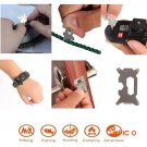 15in1 Survival Flint Fire Starter Paracord Whistle Gear Buckle Camping Ignition Equipment