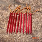 10pcs/lot 18cm Aluminium Alloy Tent Peg Nail 700I Aluminium Alloy Stake with Rope Camping
