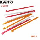 10pcs 16cm Aluminium Alloy Tent Peg Nail with Rope Camping Equipment Outdoor Traveling Ten