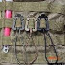 2Pcs/lot ITW Webdom Web Dominator Molle Backpack Carabiner Elastic Rope Webbing Buckle Win