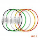 5 PCS/Lot Stainless Steel Key Chain Steel Key Ring Wire Rope Camping Tools Good Elasticity