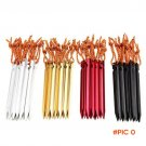 10pcs/lot 18cm Camping Equipment Outdoor Traveling Beach Aluminium Alloy Tent Peg Nail 700