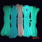1PC Reflective Parachute Cord Survival String 9 Core 550lb Luminous Glow Camping Hiking Ro