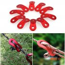 10Pcs/lot Outdoor Camping Tent Parachute Cord Rope Buckle Guy Line Runners Tensioners Fast
