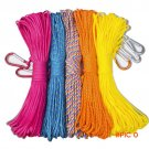 100FT 30 Meter 7 Core 4mm diameter High Intensity Lifeline Safety Rope Floating Rope Campi