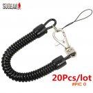20Pcs/lot Retractable Plastic Spring Elastic Rope Security Gear Tool Airsoft Hiking Campin