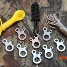 10 pcs/Lot Snail Shape 3 holes Multifunction Quick Knot Tent Wind Rope Buckle Anti Slip Ca