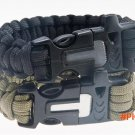 4 in 1 travel kit Survival Flint Fire Starter Paracord 550 Whistle Gear Buckle Camping Ign