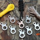 EDC multifunction outdoor equipment pocket tool stainless steel paracord button camping Fa