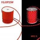 Brand YUETOR 20m red cord paracord tightener thickness 5mm length clothesline for camping